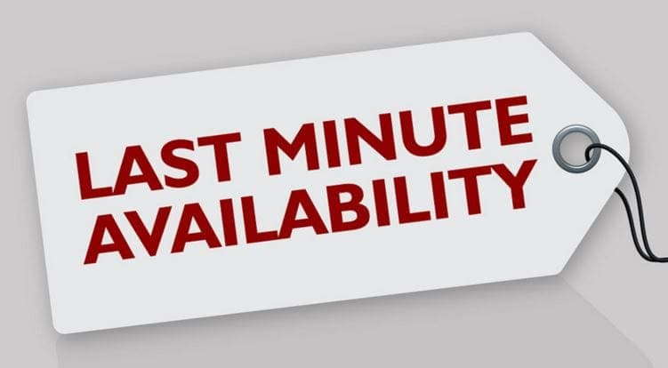 Last minute availability Image