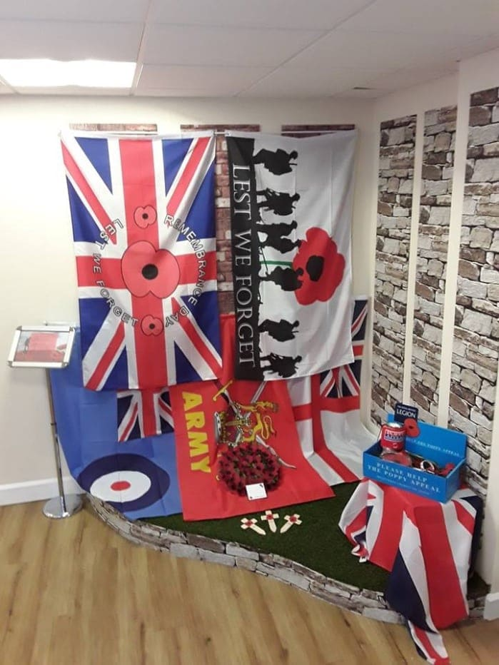 Remembrance Reception Display