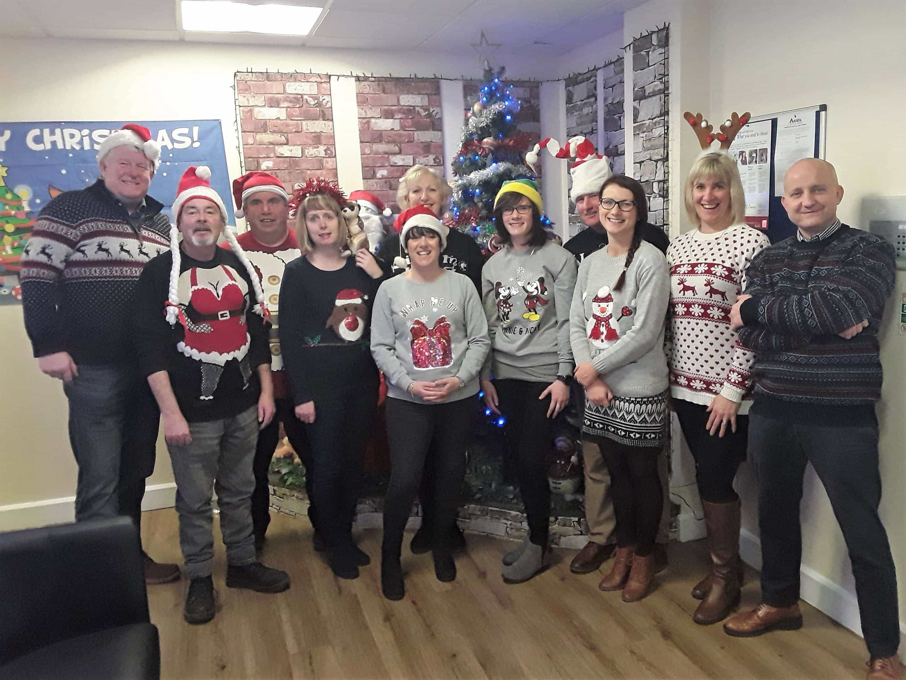 Britannia Staff in Christmas Jumpers