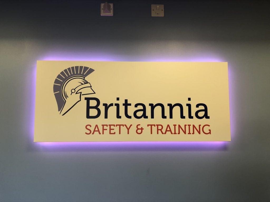 Britannia reception sign